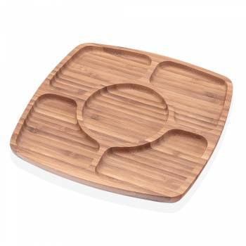 - Olea 5 Bölmeli Servis Tabağı - Bambu