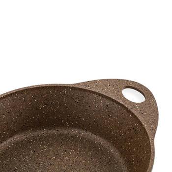 Olis 7 Parça Döküm Granit Tencere Set - Kahve - Thumbnail