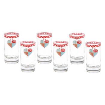 Patchwork 6'lı Kahve Yanı Su Bardağı Takımı - Thumbnail