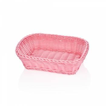 - Oval Pembe Ekmek Sepeti