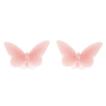 Biev - Pembe İkili Kelebek Mum (1)