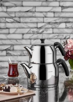 Porto Çelik Çaydanlık Takımı - Thumbnail