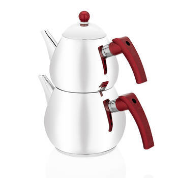 - Rain Çelik Çaydanlık Takımı - Kırmızı