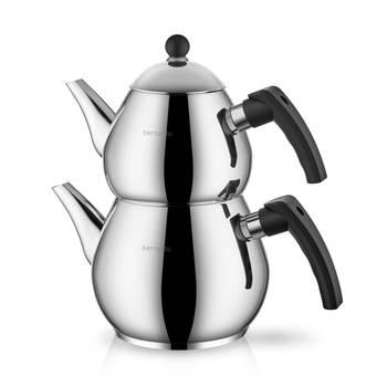 Bernardo - Rain Çelik Çaydanlık Takımı - Siyah