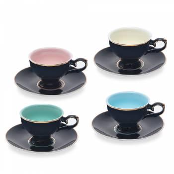 - Renkli 4'lü Kahve Fincan Seti