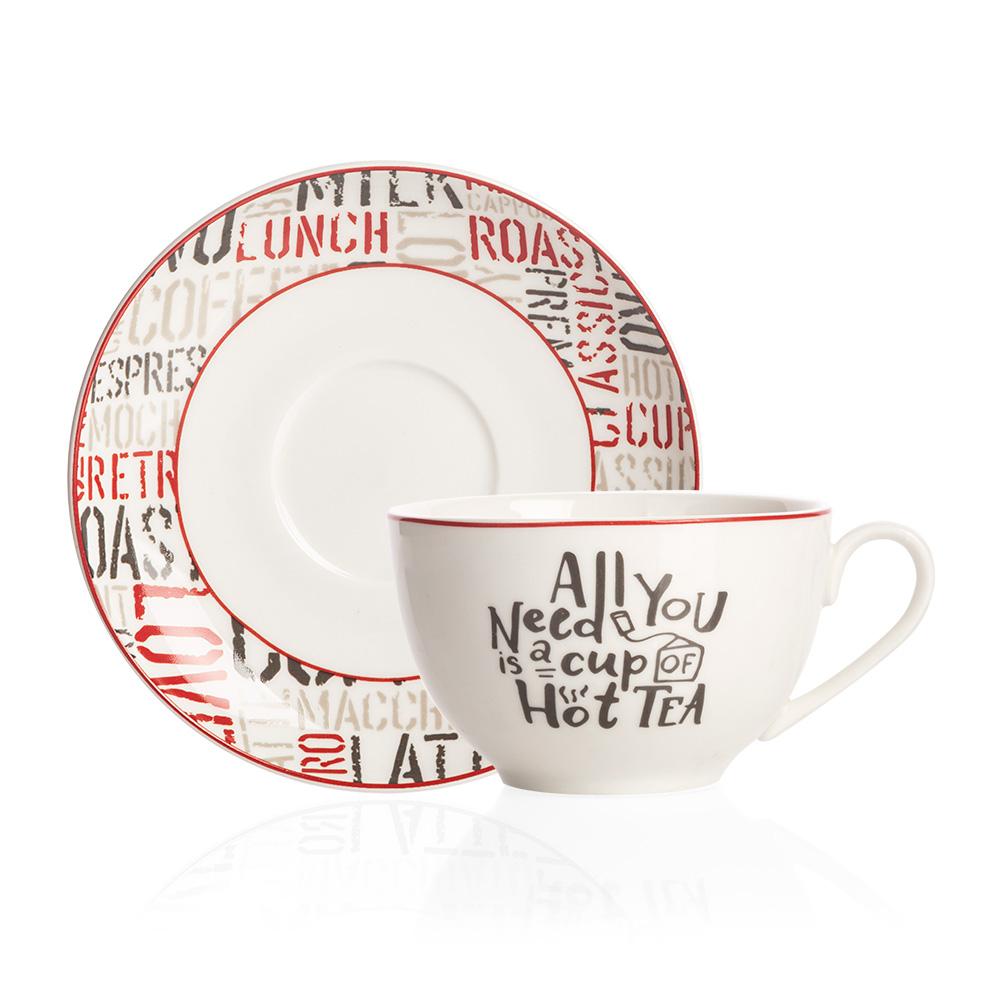 Rhoda 4 Kişilik Porselen Çay Fincanı Takımı