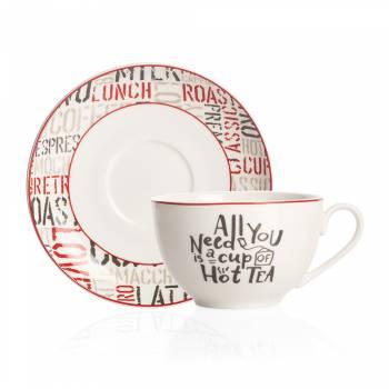 Rhoda 4 Kişilik Porselen Çay Fincanı Takımı - Thumbnail