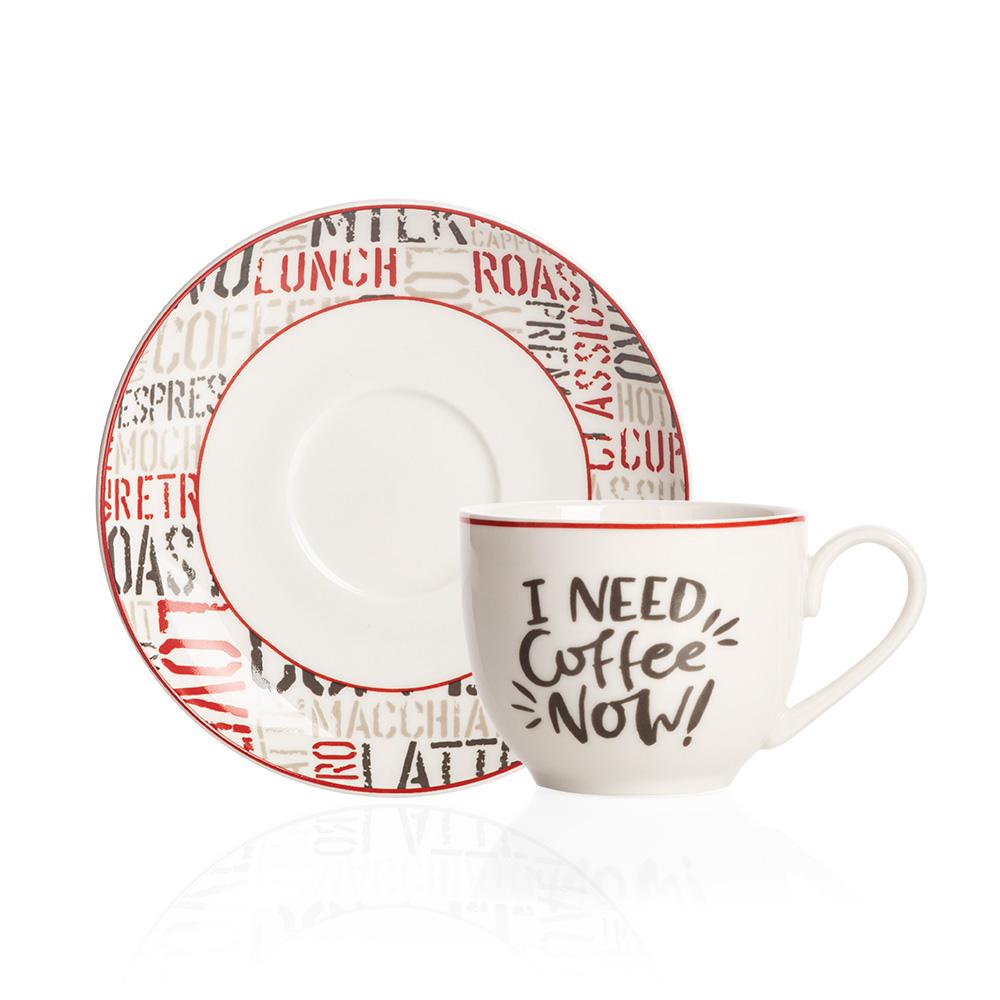 Rhoda 4 Kişilik Porselen Kahve Fincanı Takımı
