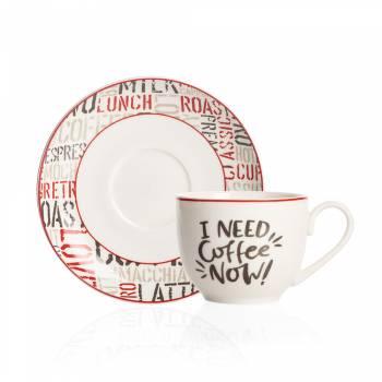 Rhoda 4 Kişilik Porselen Kahve Fincanı Takımı - Thumbnail