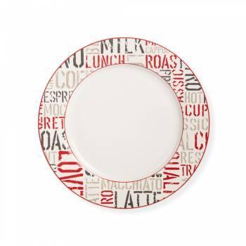 Rhoda 4 Parça Yuvarlak Porselen Servis Tabağı Takımı - 27 cm - Thumbnail