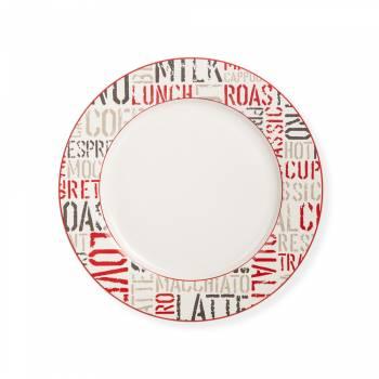 Rhoda 4 Parça Yuvarlak Porselen Servis Tabağı Takımı - 27 cm