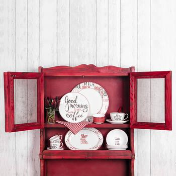 Rhoda 4 Parça Yuvarlak Porselen Tatlı Tabağı Takımı – 20 cm - Thumbnail
