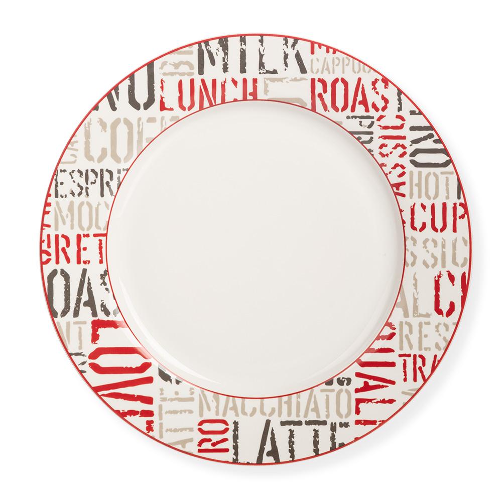 Rhoda 4 Parça Yuvarlak Porselen Tatlı Tabağı Takımı - 23 cm