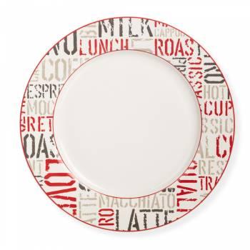 - Rhoda 4 Parça Yuvarlak Porselen Tatlı Tabağı Takımı - 23 cm