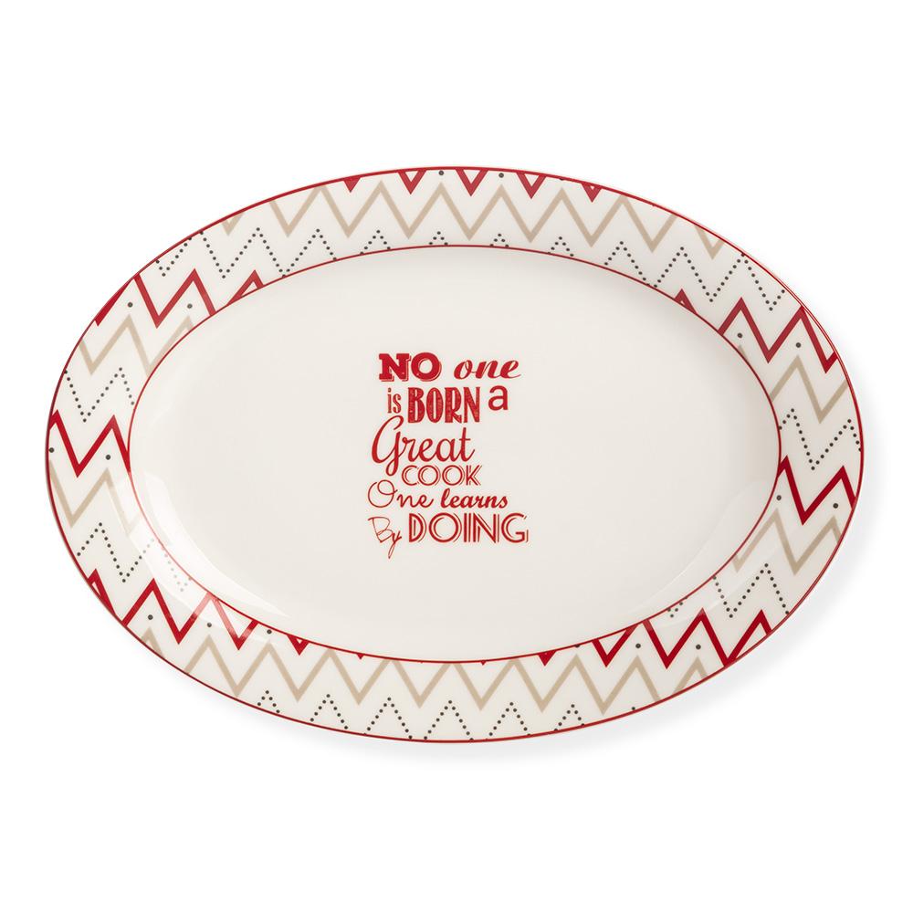 Rhoda Oval Porselen Servis Tabağı - 25 cm