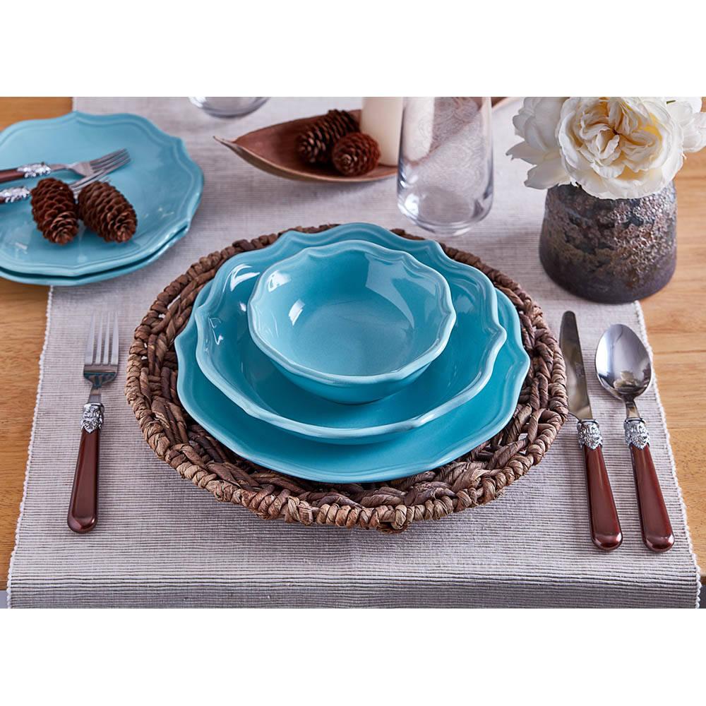 Rodin 6 Kişilik 24 Parça Stoneware Yemek Takımı - Turkuaz