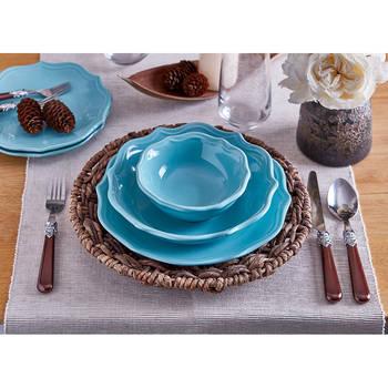Rodin 6 Kişilik 24 Parça Stoneware Yemek Takımı - Turkuaz - Thumbnail