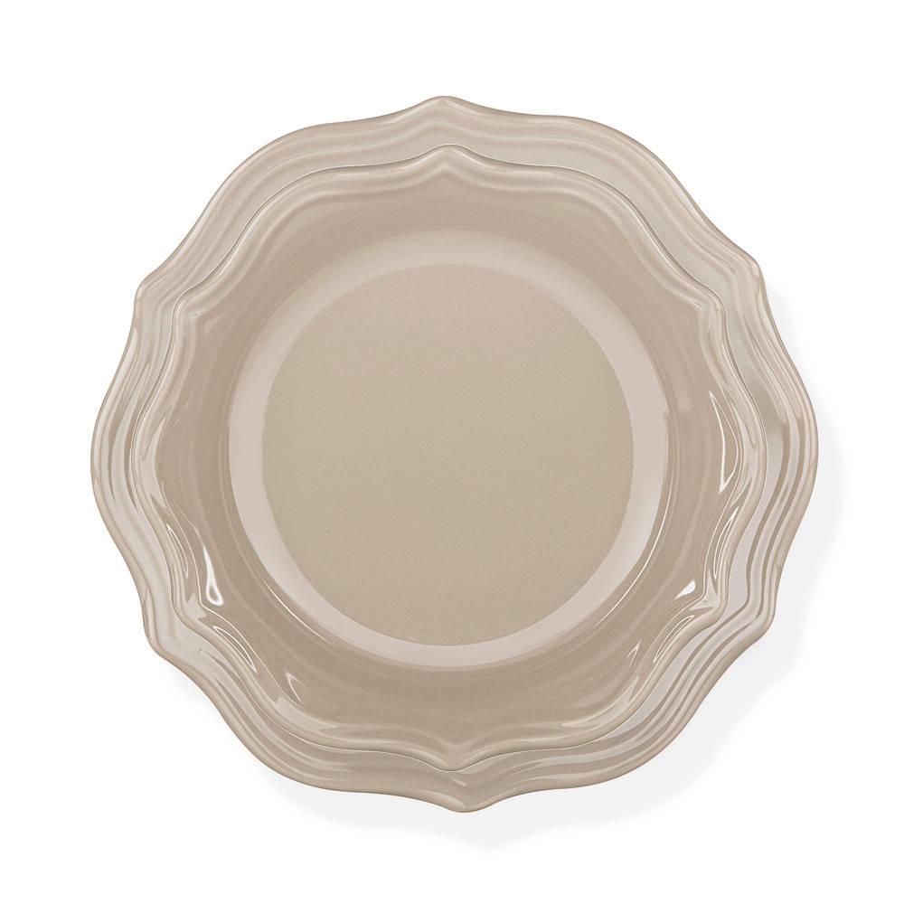 Rodin 6 Kişilik 24 Parça Stoneware Yemek Takımı - Kahverengi