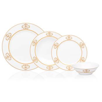 - Ronsard 6 Kişilik Çiçek Desenli Porselen Yemek Takımı