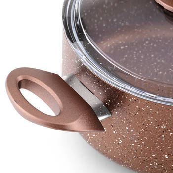 Bernardo - Rosin Bronz Kahve Granit Derin Tencere - 20 cm (1)