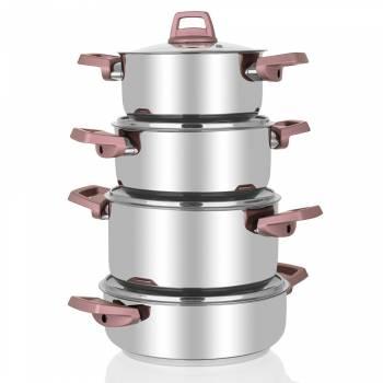 - Rozy 8 Parça Çelik Tencere Seti (1)
