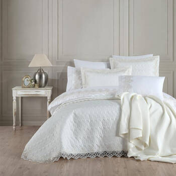 Bernardo - Sal Çift Kişilik 10 Parça Yatak Örtüsü Takımı