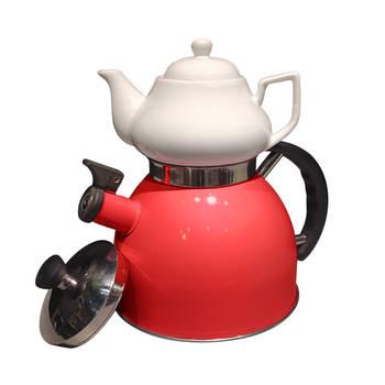 Biev - Sea Düdüklü Çaydanlık – Kırmızı