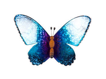 Biev - Şeffaf Kelebek Büyük Boy - Mavi Mor