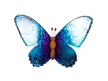 Biev - Şeffaf Kelebek Büyük Boy - Mavi Mor (1)