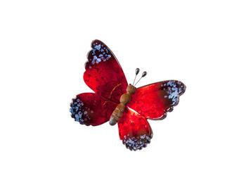 Biev - Şeffaf Kelebek Küçük Boy - Kırmızı