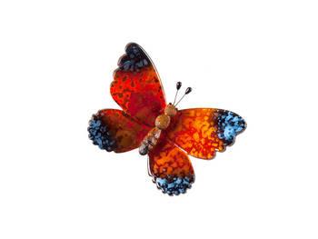 Biev - Şeffaf Kelebek Küçük Boy - Turuncu
