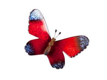 Biev - Şeffaf Kelebek Orta Boy - Kırmızı (1)