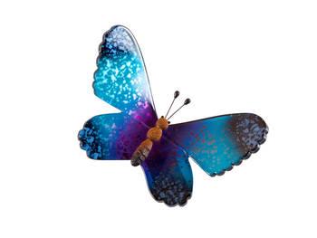 Biev - Şeffaf Kelebek Orta Boy - Mavi Mor