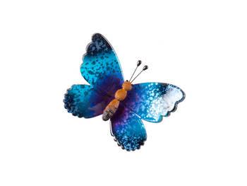 Biev - Şeffaf Kelebekli Küçük Boy - Mavi Mor