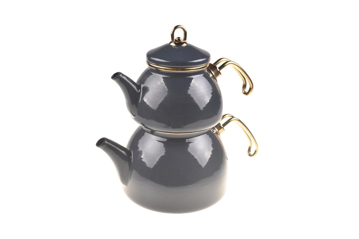 Şehzade Çaydanlık Takımı - Gri Bambum