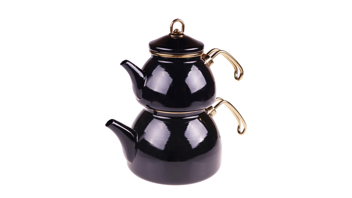 Şehzade Çaydanlık Takımı - Siyah Bambum