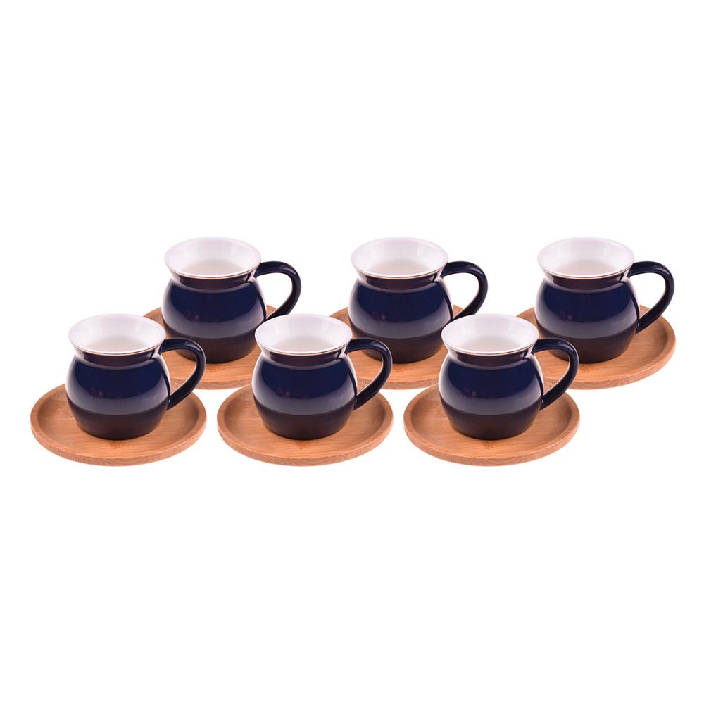 Selam - 6 Kişilik Kahve Fincan Takımı Mavi