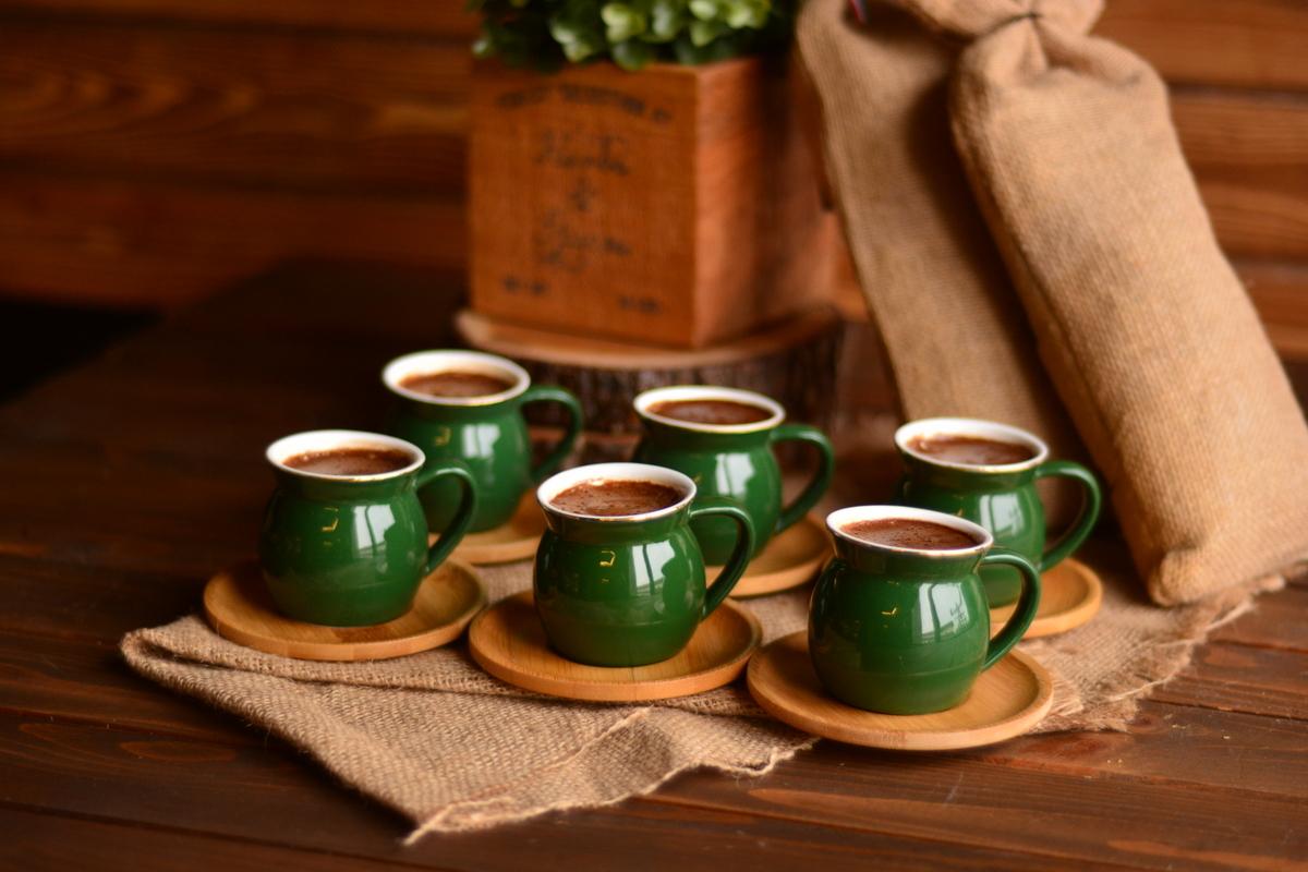 Selam 6 Kişilik Kahve Fincan Takımı - Yakut Bambum