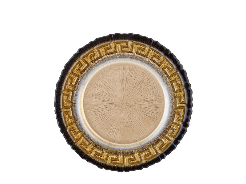 Servis Tabağı 6'lı Set - Siyah 28 Cm
