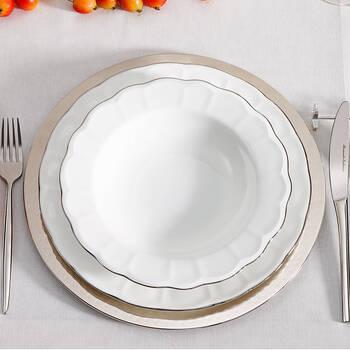 Shine 12 Kişilik 59 Parça Yemek Takımı - Platin - Thumbnail