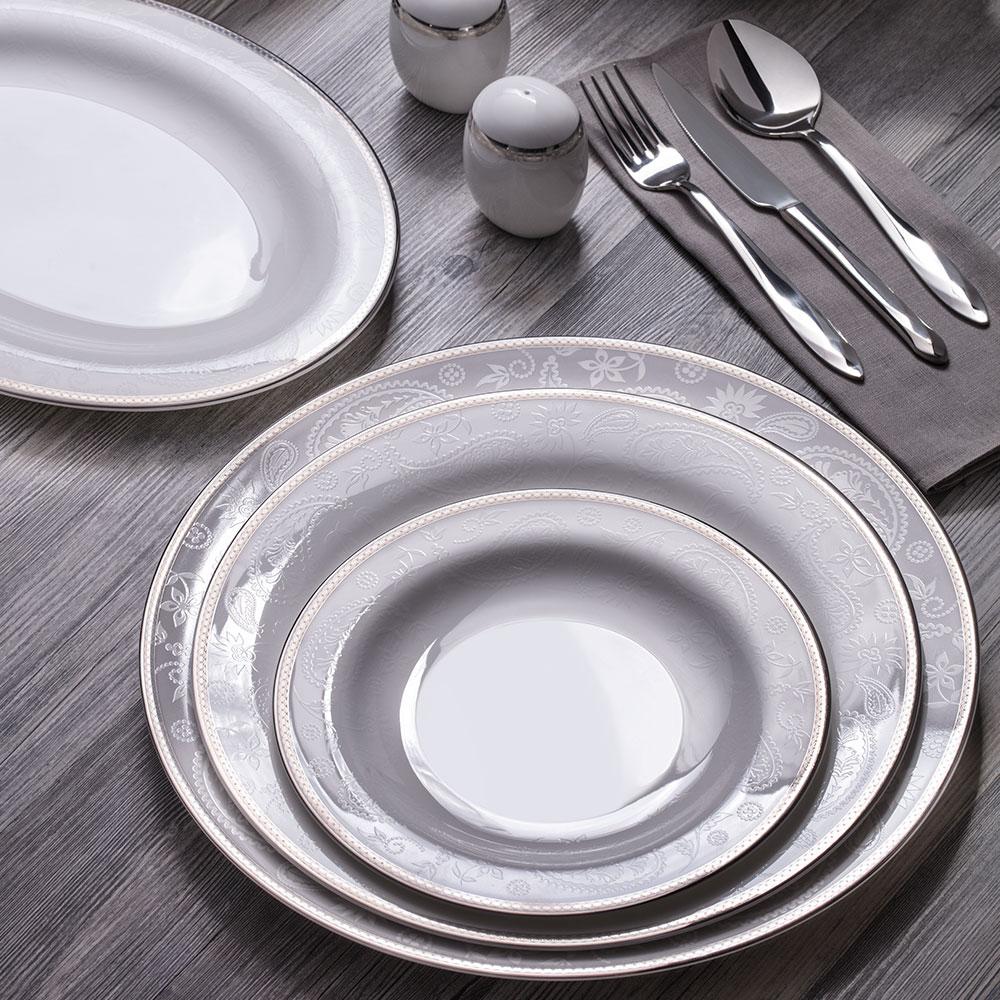 Silver Paisley 12 Kişilik 100 Parça Yemek Takımı
