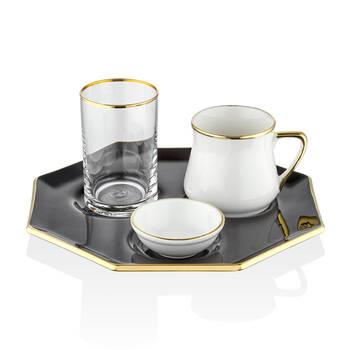 Bernardo - Siyah Kahve Sunum Tabağı