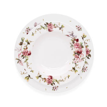Sponsa 6 Kişilik Çiçek Desenli Porselen Yemek Takımı - Thumbnail