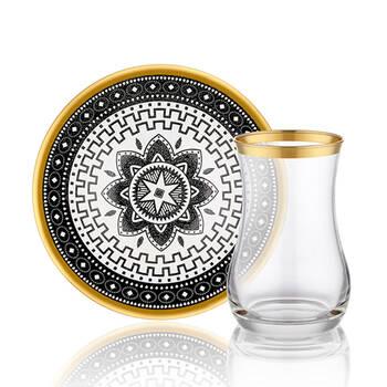 Biev - Star 6 Kişilik 12 Parça Çay Bardağı Takımı (1)