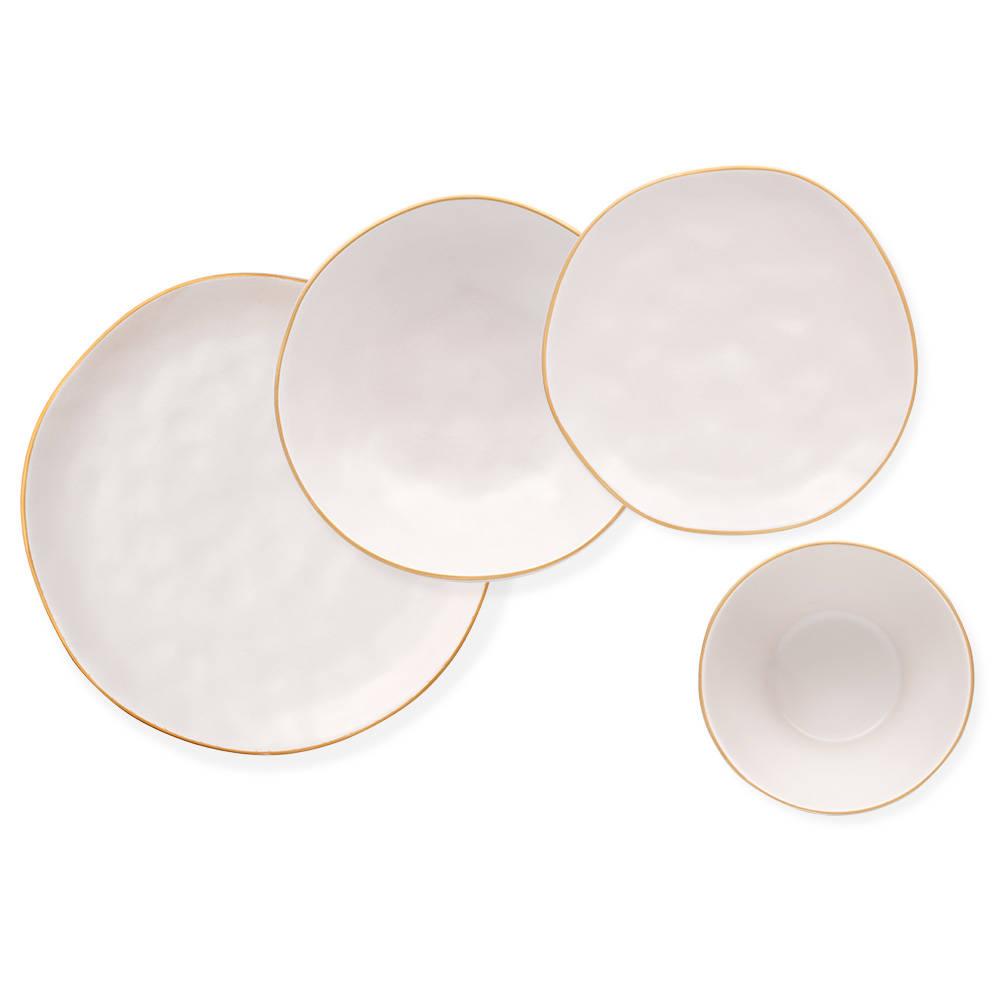 Stern 6 Kişilik 24 Parça Stoneware Yemek Takımı - Beyaz