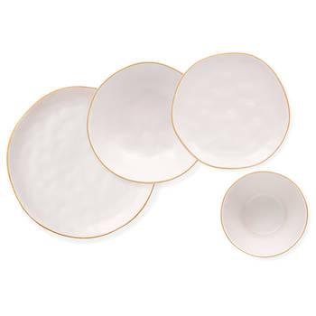 - Stern 6 Kişilik 24 Parça Stoneware Yemek Takımı - Beyaz (1)