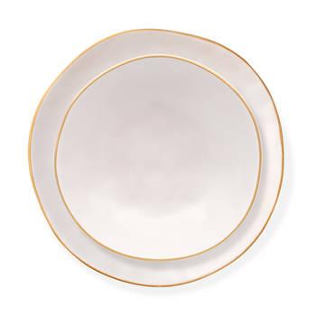 Stern 6 Kişilik 24 Parça Stoneware Yemek Takımı - Beyaz - Thumbnail
