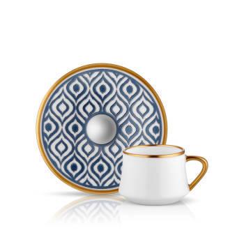 Sufi 6'lı Kahve Fincan Takımı- Antrasit - Thumbnail
