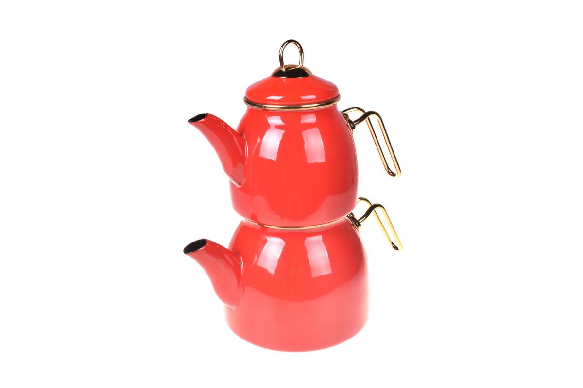 Sultan Çaydanlık Takımı - Kırmızı Bambum