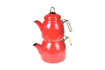 - Sultan Çaydanlık Takımı - Kırmızı Bambum